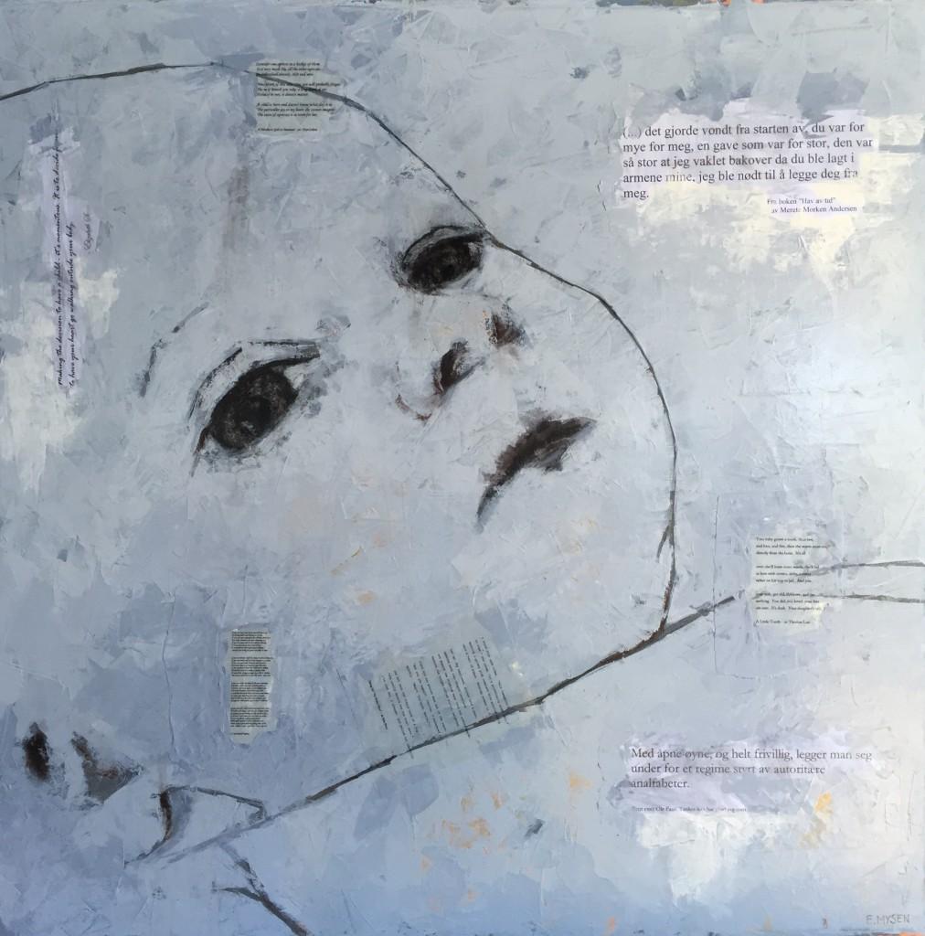 Elisabeth Mysen, Mille, Acrylic/Mixed media, 35.5 x 35.5 in. (90 x 90 cm), ©2008